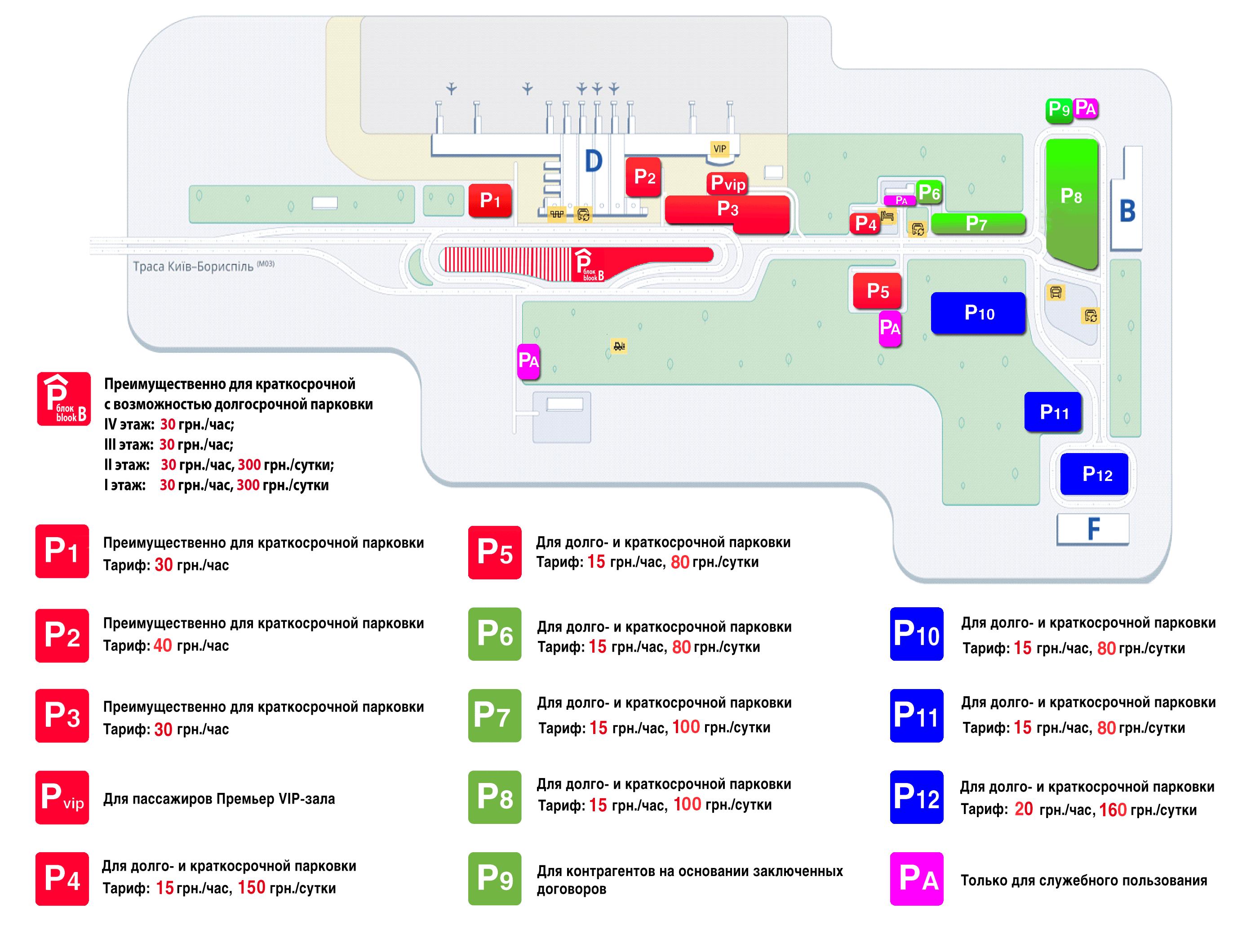 Парковка - аэропорт Борисполь